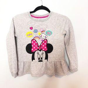 Disney Store Minnie Mouse Crew Pullover Sweater
